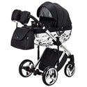 Детская коляска 2 в 1 Adamex Chantal Polar Chrome Star 11 черная
