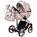 Детская коляска 2 в 1 Adamex Chantal Polar Gold Star 121 бежевая