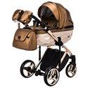 Детская коляска 2 в 1 Adamex Chantal Polar Gold Star 123 медная