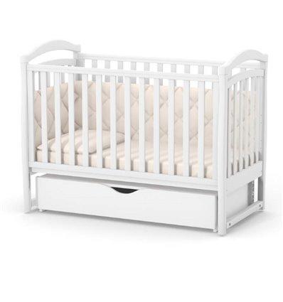 Детская кроватка Верес Соня ЛД6 с маятником и ящиком белая