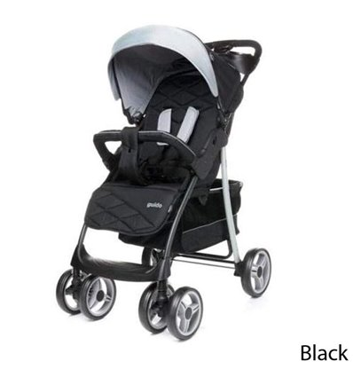Детская прогулочная коляска 4Baby Guido Black