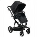 Детская коляска 2 в 1 ibebe i-stop IS15 черная, черная рама
