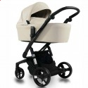 Детская коляска 2 в 1 ibebe i-stop IS19 бежевая, черная рама
