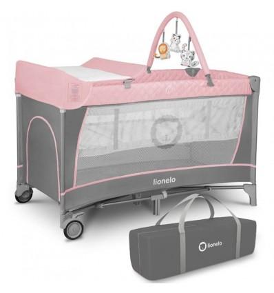Манеж кровать Lionelo Flower Flamingo