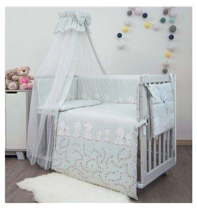 Детский постельный комплект Twins Sweet 8 эл. Umka Grey