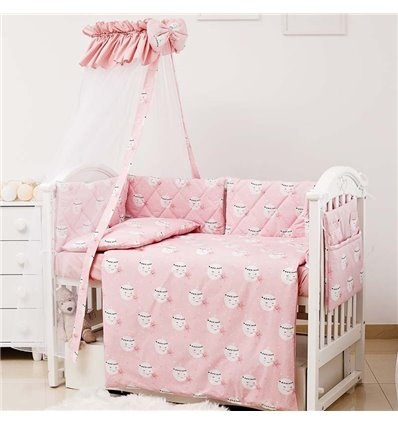 Детский постельный комплект Twins Premium Glamour 8 эл. TGM-08 Moon Pink
