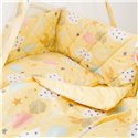 Детский постельный комплект Twins Premium Glamour 8 эл. TGC-05 Clouds Yellow