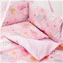 Дитячий постільний комплект Twins Premium Glamour 8 ел. TGC-08 Clouds Pink