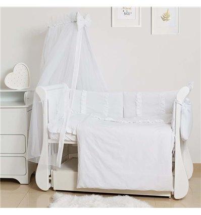 Детский постельный комплект Twins Romantic Spring 8 эл. TR-01 White