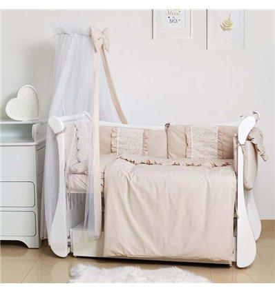 Детский постельный комплект Twins Romantic Spring 8 эл. TR-02 Beige