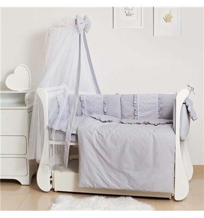 Детский постельный комплект Twins Romantic Spring 8 эл. TR-10 Grey