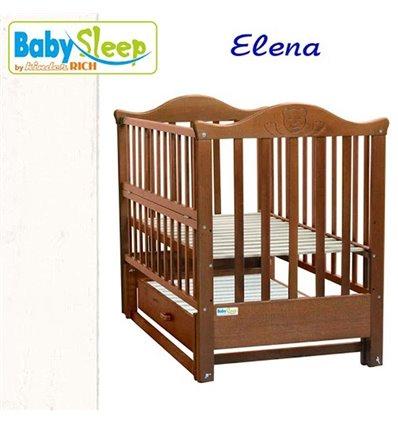 Детская кроватка Baby Sleep Elena BKP-S-B с ящиком Белый