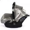 Детская коляска 2 в 1 Junama Termo Glitter 03 Smoke Silver