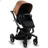 Детская коляска 2 в 1 ibebe i-stop IS22 Gloss коричневая