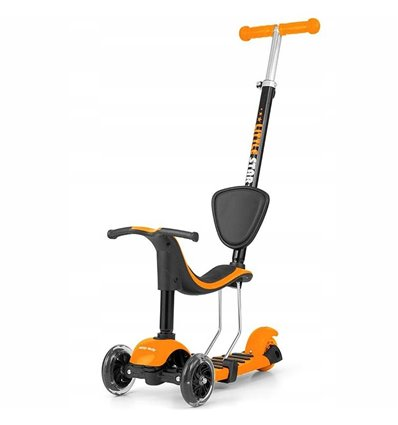Самокат трехколесный Milly Mally Scooter Little Star Orange