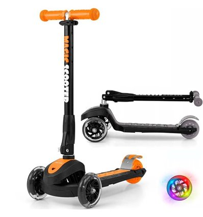 Самокат трехколесный Milly Mally Scooter Magic Orange