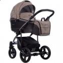 Детская коляска 2 в 1 Bebetto Bresso Premium Dark 01 коричневая
