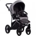 Детская коляска 2 в 1 Bebetto Bresso Premium Dark 02 серая