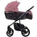 Детская коляска 2 в 1 Bebetto Bresso Premium Dark 03 красная