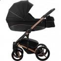 Детская коляска 2 в 1 Bebetto Tito Premium Stella 02 чёрная