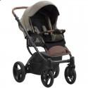 Детская коляска 2 в 1 Bebetto Luca Pro 12 темно-бежевая