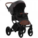 Детская коляска 2 в 1 Bebetto Luca 01 графитовая, черная рама