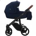 Детская коляска 2 в 1 Bebetto Luca 02 темно-синяя, черная рама
