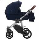 Детская коляска 2 в 1 Bebetto Luca 02 темно-синяя, серая рама