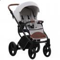 Детская коляска 2 в 1 Bebetto Luca 10 светло-серая, черная рама