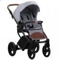 Детская коляска 2 в 1 Bebetto Luca 12 серая, черная рама