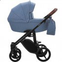 Детская коляска 2 в 1 Bebetto Luca 13 синяя, черная рама