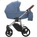 Детская коляска 2 в 1 Bebetto Luca 13 синяя, серая рама