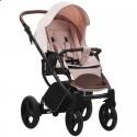 Детская коляска 2 в 1 Bebetto Luca 14 персиковая, черная рама
