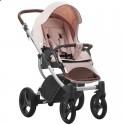 Детская коляска 2 в 1 Bebetto Luca 14 персиковая, серая рама
