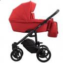 Детская коляска 2 в 1 Bebetto Luca 15 красная, черная рама
