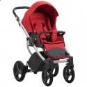 Детская коляска 2 в 1 Bebetto Luca 15 красная, серая рама