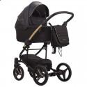 Детская коляска 2 в 1 Bebetto Torino Si 01 черная, золотая рама