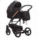 Детская коляска 2 в 1 Bebetto Torino Si 02 черная, медная рама