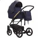 Детская коляска 2 в 1 Bebetto Torino Si 03 синяя, золотая рама