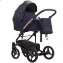 Детская коляска 2 в 1 Bebetto Torino Si 04 синяя, медная рама