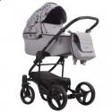 Детская коляска 2 в 1 Bebetto Torino TEX 01 серая с цветами