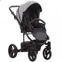 Детская коляска 2 в 1 Bebetto Torino TEX 110 черно-серая