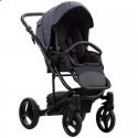 Детская коляска 2 в 1 Bebetto Torino TEX 111 синие зигзаги
