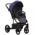 Детская коляска 2 в 1 Bebetto Torino TEX 121 синяя индиго
