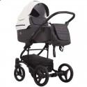 Детская коляска 2 в 1 Bebetto Torino 01 серо-графитовая, черная рама