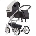 Детская коляска 2 в 1 Bebetto Torino 01 серо-графитовая, белая рама