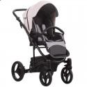 Детская коляска 2 в 1 Bebetto Torino 04 серо-розовая, черная рама