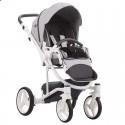 Детская коляска 2 в 1 Bebetto Torino 05 серая, белая рама