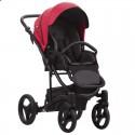 Детская коляска 2 в 1 Bebetto Torino 07 красная, черная рама
