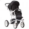 Детская коляска 2 в 1 Bebetto Torino 08 черная, белая рама